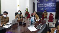 Sekretaris Daerah Jonpriadi mengekpsos secara virtual Master Plan Smart City ke Tim Kemenkominfo di Parit Malintang, Senin (23/11/2020). Photo credit should read Hms/Halonusa
