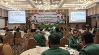 Rapat konsolidasi DPW dan DPC Partai Persatuan Pembangunan (PPP) Sumatera Barat, Riau dan Bengkulu, di ball room Hotel Pangeran Beach, Jalan Djuanda, Kota Padang, Sumatera Barat, Minggu (22/11/2020). | Tan/Halonusa