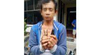 Pelaku curanmor saat diamankan Polresta Padang, Jumat (21/11/2020).