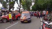 Kecelakaan lalu lintas di Air Tawar, Kota Padang, Sabtu (28/11/2020).