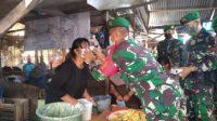 Satgas Covid-19 Batalyon Inf 133 Yudha Sakti, Covid-19, Pasar, Ekonomi, Padang, Sumatera Barat