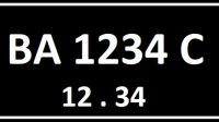 Kode plat nomor BA seri belakang C.