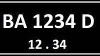 Plat Nomor BA Seri Belakang D