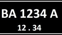 Ilustrasi plat nomor BA seri belakang A.