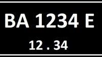 Plat Nomor BA Seri Belakang E