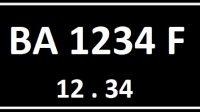 Plat Nomor BA Seri Belakang F