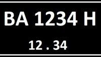 Plat Nomor BA Seri Belakang H