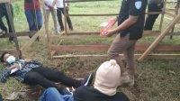 Rekonstruksi terhadap korban penembakan Deki Susanto-Halonuisa-Solok Selatan-DPO Judi tewas-Sumatera Barat-