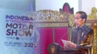 Presiden RI Joko Widodo - Halonusa - Tanharimage -Kariadil Harefa - Indonesia - Indonesia Internasional Motor Show - 2021
