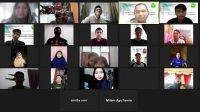 Forum diskusi secara virtual tim robot UBH dan pelajar SMAN 1 Batusangkar, Jumat (11/6/2021). | Rel