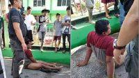 Izet, pelaku pemalakan sopir truk di Padang, ditangkap di Tanah Datar, Kamis (15/7/2021).