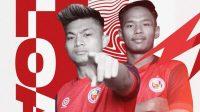 Dua pemain Semen Padang yang dipinjamkan ke PSPS Riau, Muhammad Sanjaya dan Wiranto. (Foto: IG @semenpadangfcid)