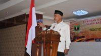 Gubernur Sumbar Mahyeldi membuka Bimbingan Teknis Pengamalan ABS-SBK Bagi Generasi Muda, di Aula Hotel Sakura Syariah, Lubuk Basung, Kabupaten Agam, Jumat (9/7/2021).