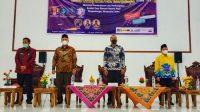 Wakil Gubernur Sumatera Barat (Sumbar), Audy Joinaldy pada acara Webiner Musyawarah Luar Biasa Forum Komunikasi Mahasiswa Pengembangan Masyarakat Islam (Forkommasi) se Sumatera Barat di Auditorium Kampus II IAIN Batusangkar, pada Jum'at (2/7/2021).
