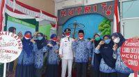 Mural photobooth tentang kampanye lepas masker di Kecamatan Lubuk Begalung. (Foto: Dok. Istimewa)