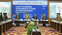 Rapat Koordinasi TP2DD kedua se-Sumbar di Padang, Senin (30/8/2021).