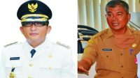 Dari kiri ke kanan: Kolase foto Wali Kota Padang, Hendri Septa dan Sekretaris Daerah (Sekda), Amasrul. (Foto: Dok. Istimewa)