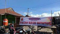 Pasar Baso di Kabupaten Agam sempat ditutup saat angka COvid-19 tinggi. (Foto: Dok. Okezone.com)