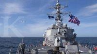 ILUSTRASI. Sebuah kapal perang AS memasuki kawasan selat Taiwan (17/9/2021) Dok: Armada Ke-6 Angkatan Laut AS .