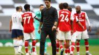 Arteta gagal membawa Arsenal ke kasta tertinggi sepak bola dunia,(Foto: Reuater)