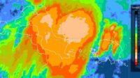 Tangkapan layar update peringatan dini cuaca wilayah Kepulauan Bangka Belitung Sabtu (4/9/2021) pukul 05.00 WIB. Masih berpotensi terjadi hujan dengan intensitas sedang-lebat yang dapat disertai kilat/petir dan angin kencang. (ANTARA/Andi Firdaus)