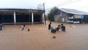 Genangan terjadi di daerah Jundul Rawang Padang
