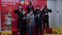Atlet taekwondo asal Sumbar, Roval Berlin raih emas pertama di PON Papua. (Foto: Dok. Istimewa)