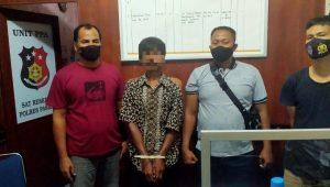 Pelaku cabul terhadap cucu di Pasaman Barat ditangkap. (Foto: Dok. Polres Pasaman Barat)
