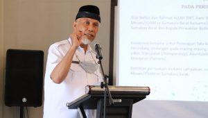 Gubernur Sumbar Mahyeldi di Bukittinggi, Rabu (15/9/2021).