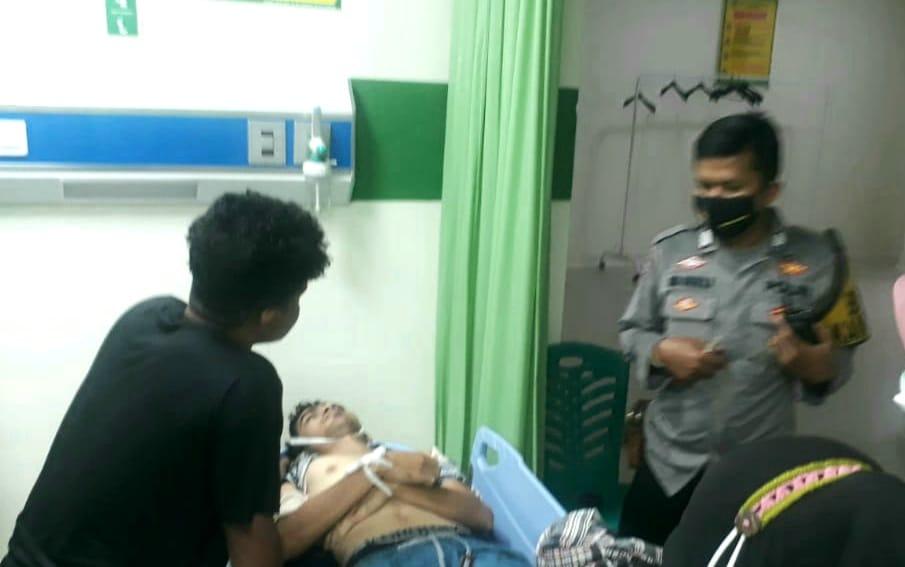 Salah satu korban tersambar petir yang dilarikan ke rumah sakit. (Foto: Dok. Istimewa)