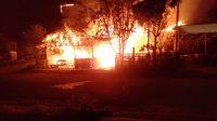 Kebakaran di Tarantang. (Foto: Dok. Istimewa)