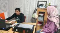 N, 23 tahun, saat dimintai keterangan oleh penyidik usai membuat laporan jadi korban perkosaan. (Foto: Dok. Polresta Padang)