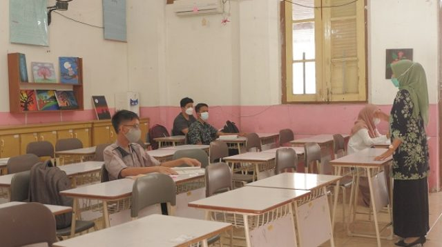 Pembelajaran Tatap Muka SMPN 1 Padang. (Foto: Dok. Putra Aksara)