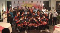 Sejumlah atlet Forki Sumbar yang dilepas ke PON XX Papua. (Foto: Dok. Istimewa)