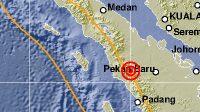Lokasi gempa di Rao, Kabupaten Pasaman. (Foto: Dok. BMKG)