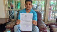 Kevin (24), korban perampasan paksa debt collector di Padang.