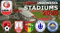 Logo tim yang akan bertanding pada pekan keempat Liga 2 Indonesia ini (LIB)